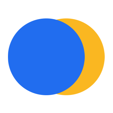 FreedomXX logo blue and gold circles
